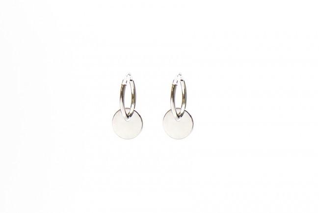 Minimalistische Oorbellen Zilver : Karma minimalistische oorbellen hoops symbols discus sterling