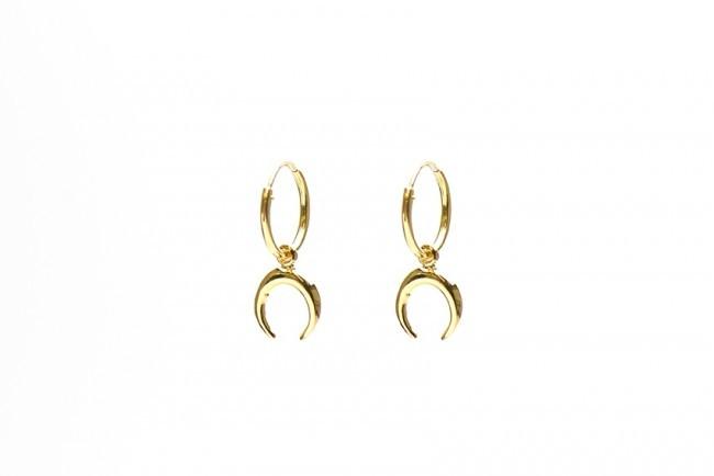 Minimalistische Oorbellen Zilver : Karma minimalistische oorbellen hoops symbols horn sterling