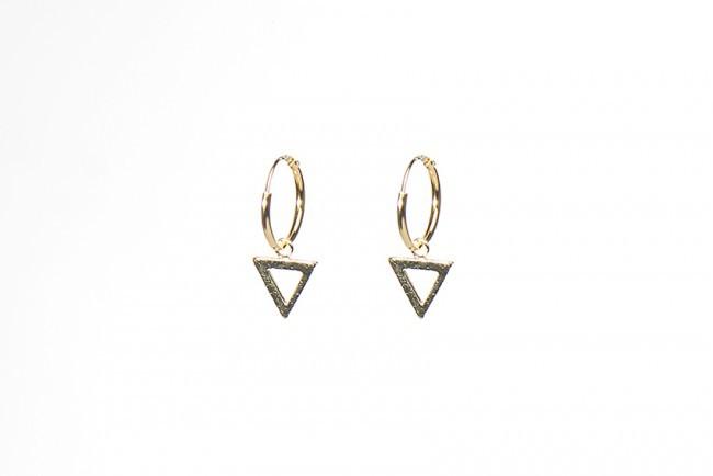 Minimalistische Oorbellen Zilver : Karma minimalistische oorbellen hoops symbols open triangle