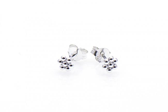 Minimalistische Oorbellen Zilver : Minimalistische oorbellen symbols dots sterling zilver