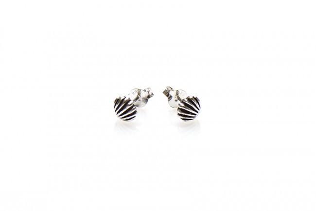 Karma minimalistische oorbellen symbols shell 925 sterling silver (per paar)