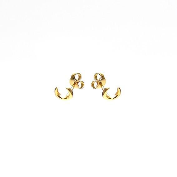 Karma minimalistische oorbellen symbols tiger tooth goldplated (per paar)
