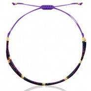 Miyuki armbandje purple-black ab