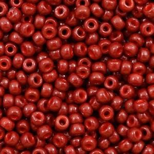 Miyuki rocailles 8/0 (3mm) 5 gram duracoat opaque jujube red