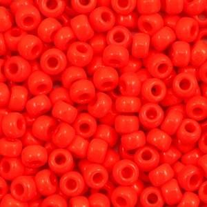 Miyuki rocailles 8/0 (3mm) 5 gram opaque vermilion red