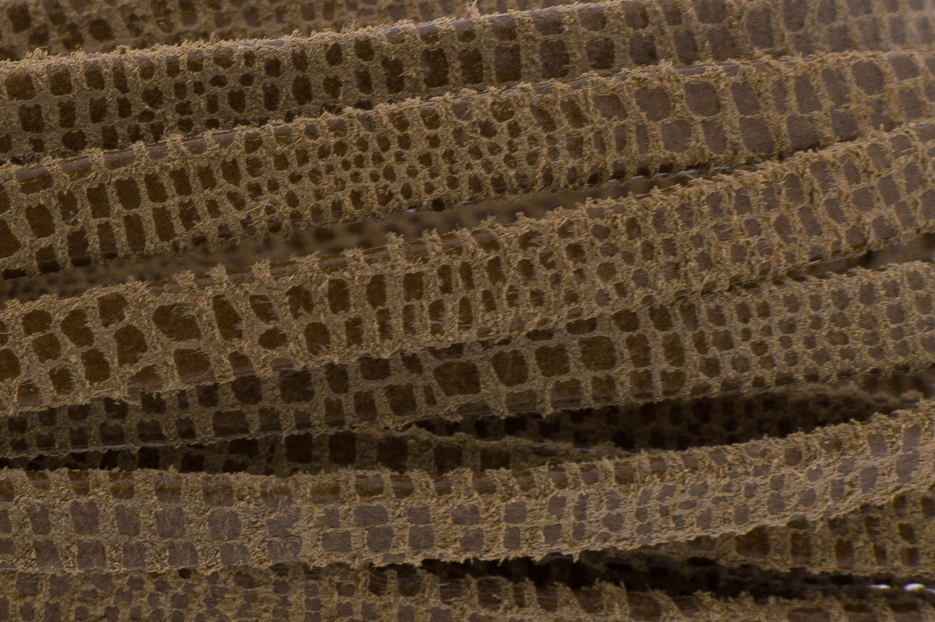 Plat leer met print 5mm lizard camel per 20cm