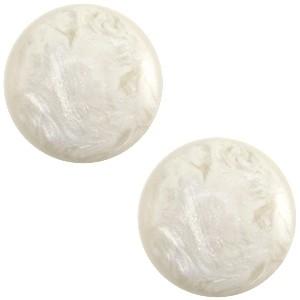 Polaris cabochon 12mm jais beige