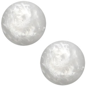 Polaris cabochon 12mm mosso shiny ice grey