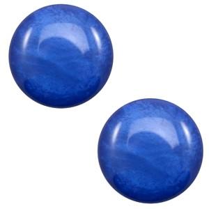 Polaris cabochon 12mm shiny cobalt blue