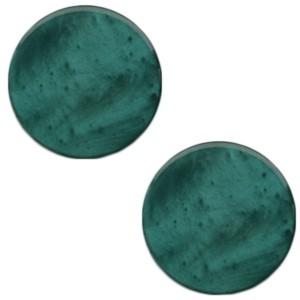 Polaris cabochon 7mm mosso shiny deep lake teal blue