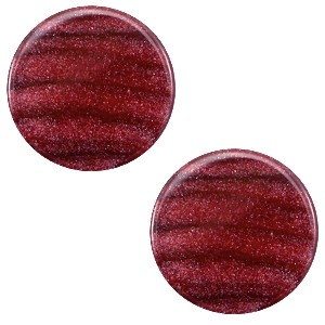 Polaris cabochon 7mm sparkle dust aubergine red