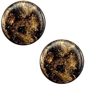 Polaris cabochon 7mm stardust dark brown