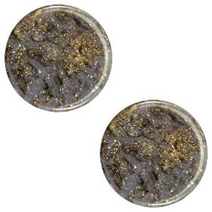 Polaris cabochon 7mm stardust dark grey