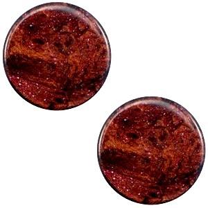 Polaris cabochon 7mm stardust port royale red