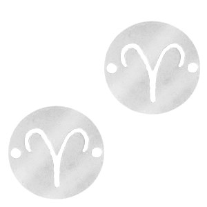 bedel-tussenzetsel-sterrenbeeld-ram-zilver-stainless-steel-12mm