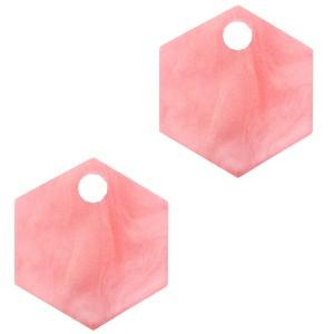 resin-hangers-hexagon-living-coral-pink-14mm-per-stuk
