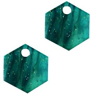 resin-hangers-hexagon-ocean-green-14mm-per-stuk