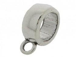 Ring met oog 12x16mm (binnenmaat 9mm) zilver