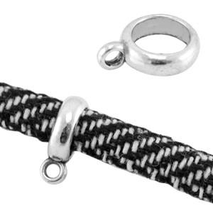 Ring met oog 14x10mm (binnenmaat 7mm) zilver