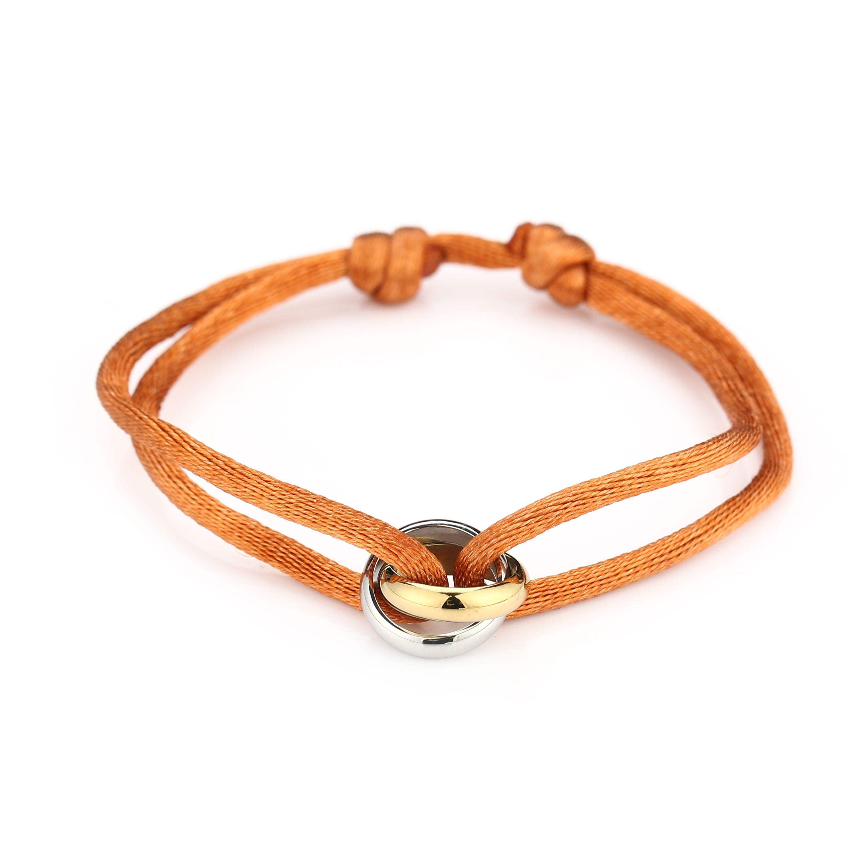 satijnen-armband-goud-met-zilver-verbonden-cirkels-stainless-steel-oranje