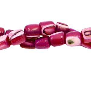 Schelp kraal tube cherry red 4x3.5mm