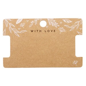 Sieraden kaartjes 'with love' Floral Brown