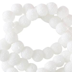 Sparkling beads white 6mm