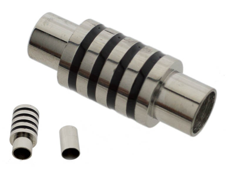 Stainless steel magneetslot tube stripes 26x10mm rvs