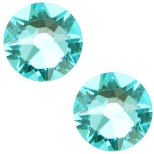 Swarovski platte steen SS34 flatback xirius rose light turquoise