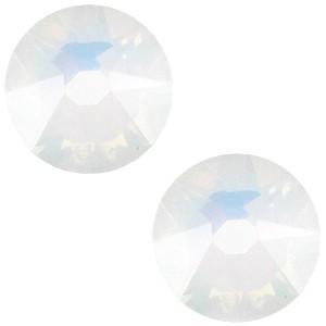 Swarovski platte steen SS34 flatback xirius rose white opal