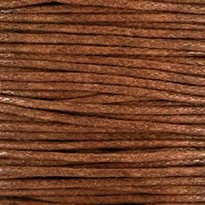 Waxkoord 1mm bruin per meter