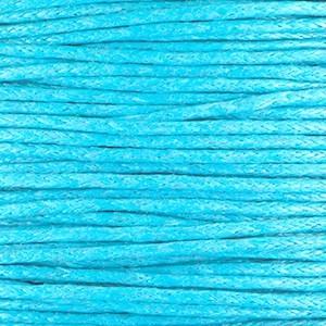 Waxkoord 1mm capri blue per meter