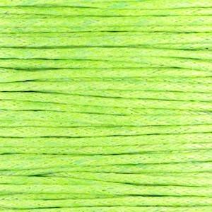 Waxkoord 1mm fern green per meter