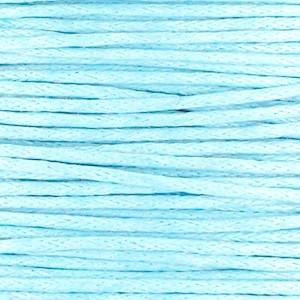 Waxkoord 1mm light blue per meter