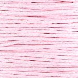 Waxkoord 1mm light pink per meter