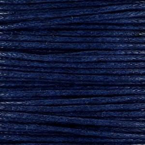 Waxkoord 1mm midnight blue per meter