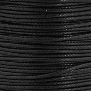 Waxkoord 1mm zwart per meter