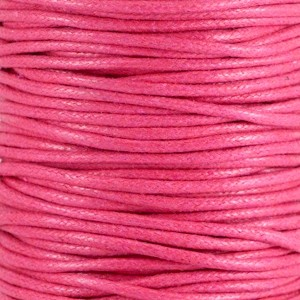 Waxkoord 2mm hot pink per meter