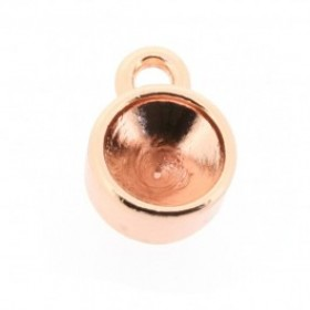 Kastje voor SS39 swarovski puntsteen 1 oog rosé