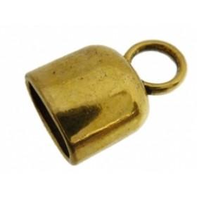 Eindkap 12x18mm goud (voor kabel leer 10x6mm of meerdere koorden leer / draad)