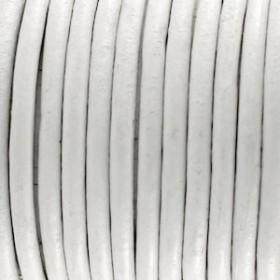 DQ leer rond 3mm wit 1 meter