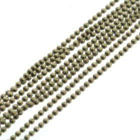 Bolletjesketting brons 1.2mm (per meter)