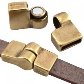 DQ magneetslot scharnier voor 10mm leer brons