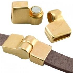 DQ magneetslot scharnier voor 10mm leer goud