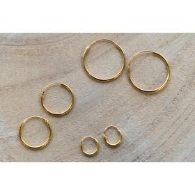 Karma oorringen / creolen maat 8mm t/m 20mm 925 sterling zilver (goldplated / per paar)