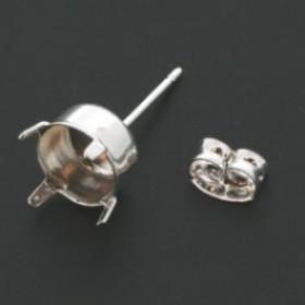 Oorsteker zilver zonder oogje voor SS39 puntsteen