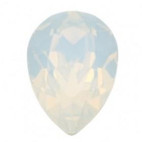 Swarovski druppel 14x10mm white opal