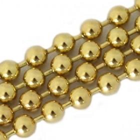 Bolletjesketting goud met duurzame plating 2mm 1 meter