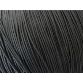 Gekleurd elastiek 0,8mm 10 meter zwart