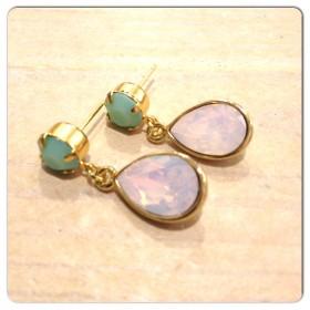 Swarovski mint alabaster en rose water opal goud